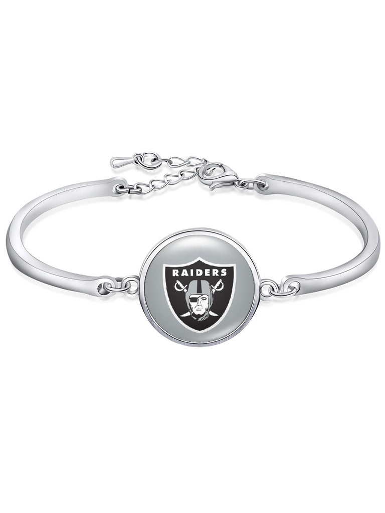 The Oakland Raiders High-Polish Bracelet NFL bracelet football wristband football bangle