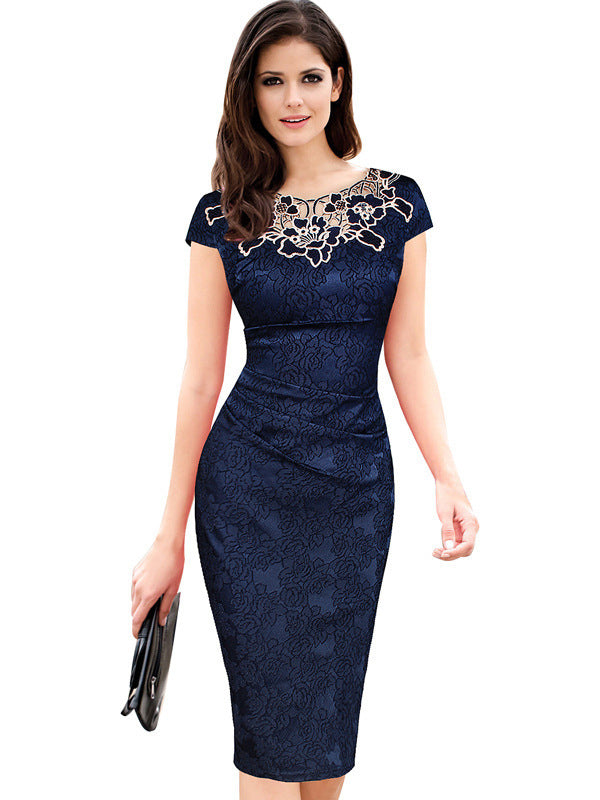 Hot Date Floral Embroidered Bodycon Dress