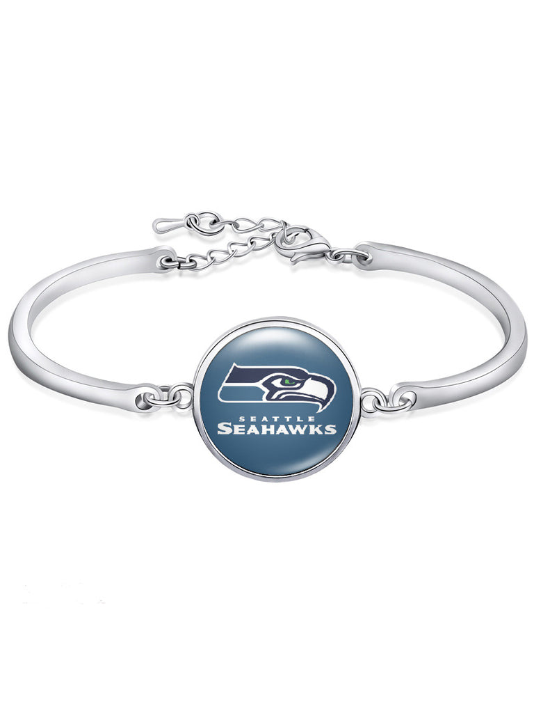 Seattle Seahawks High-Polish Bracelet NFL bracelet football wristband football bangle