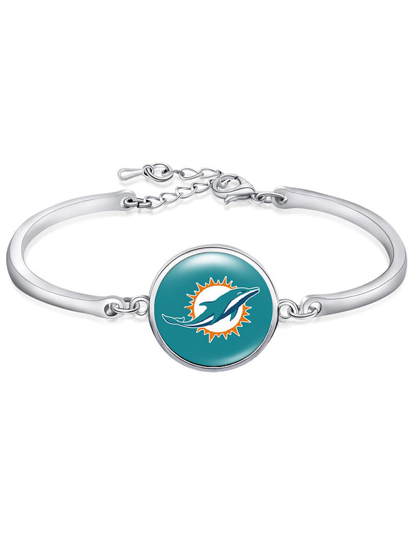 The Miami Dolphins High-Polish Bracelet NFL bracelet football wristband football bangle