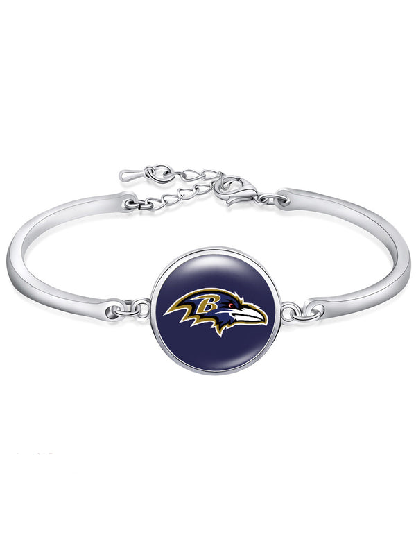 The Baltimore Ravens High-Polish Bracelet NFL bracelet football wristband football bangle