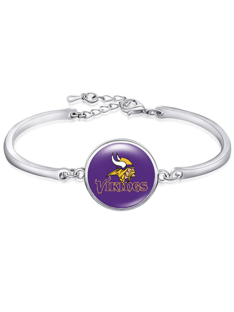 The Minnesota Vikings High-Polish Bracelet NFL bracelet football wristband football bangle