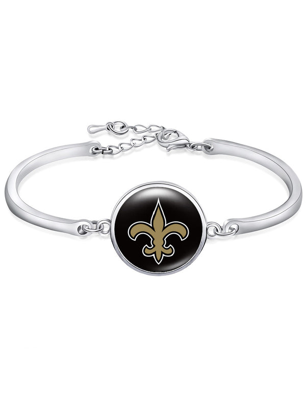 The New Orleans Saints High-Polish Bracelet NFL bracelet football wristband football bangle