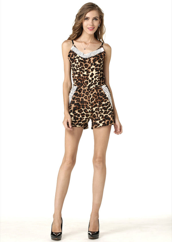The Naturalist Leopard Print Romper