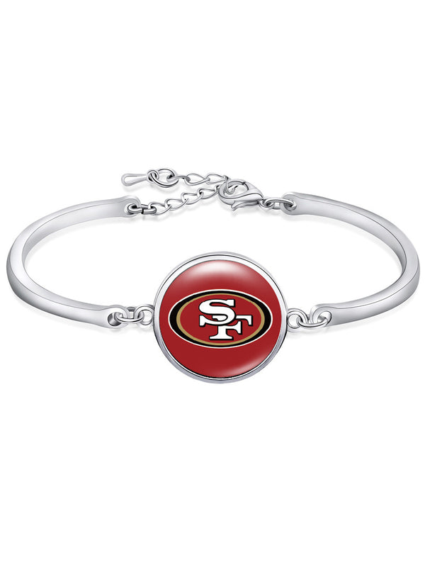 The San Francisco 49ers High-Polish Bracelet NFL bracelet football wristband football bangle