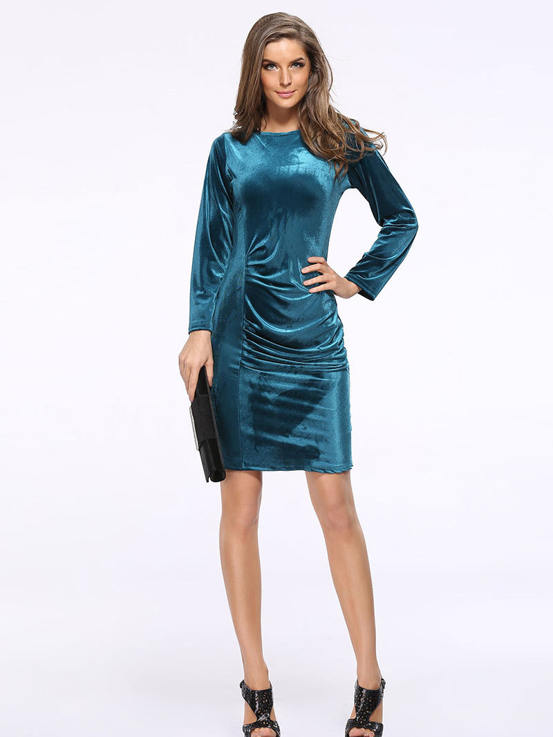 Date Night Velvet Bodycon Dress