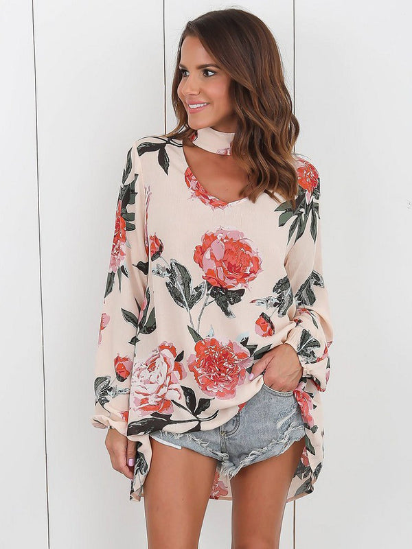 Retro Romance Keyhole Neck Top