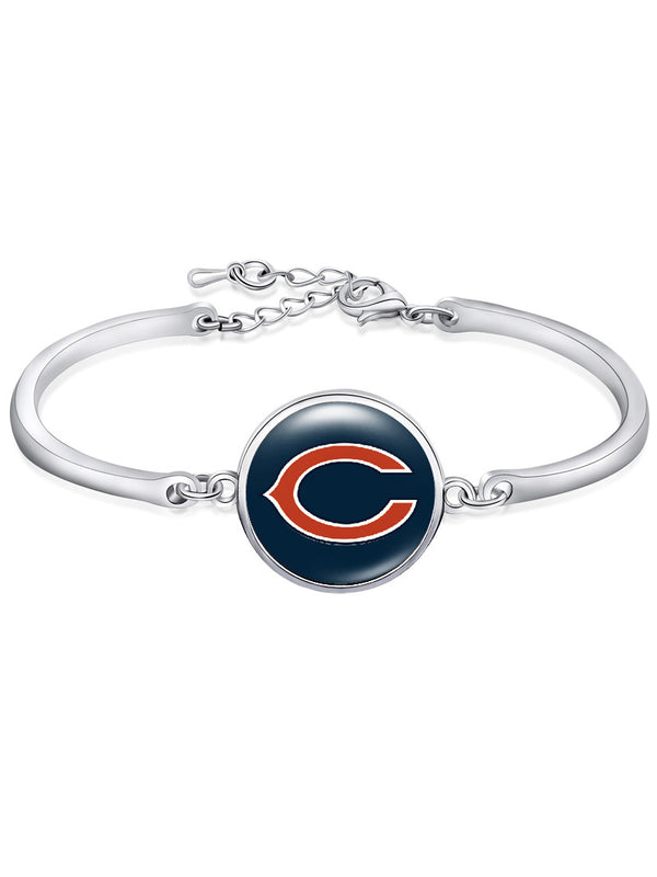 The Chicago Bears High-Polish Bracelet NFL bracelet football wristband football bangle