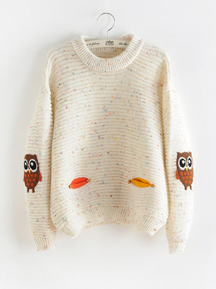 Cute Little Owls Long Sleeve Pullover