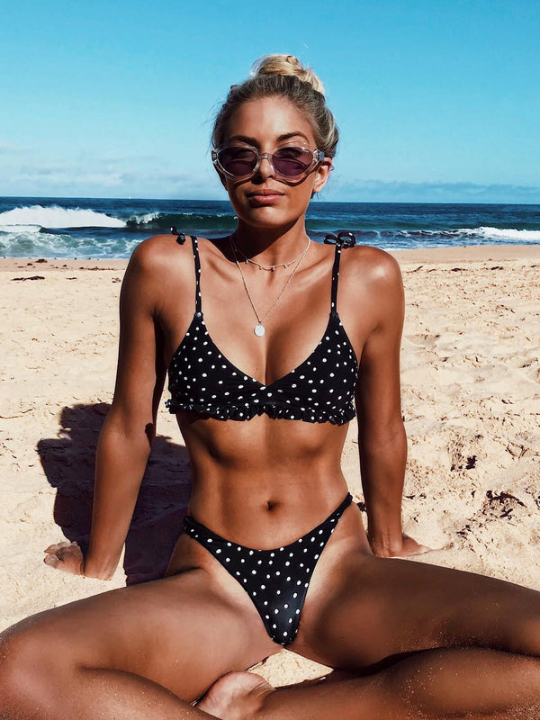 200 Degree Dotted Triangle Two-Piece Bikini