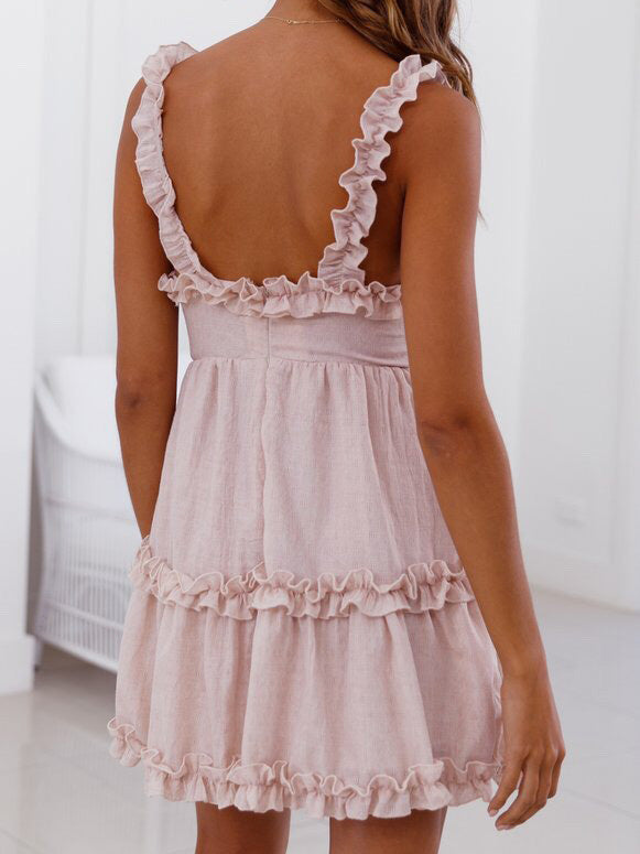 200 Degree Ruffled Mini Dress