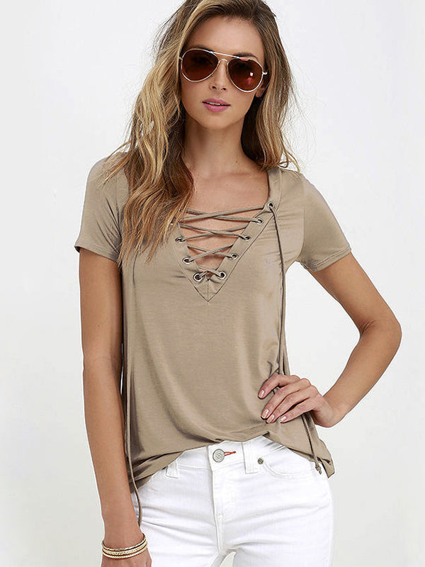 Bold Love Lace-Up Tee