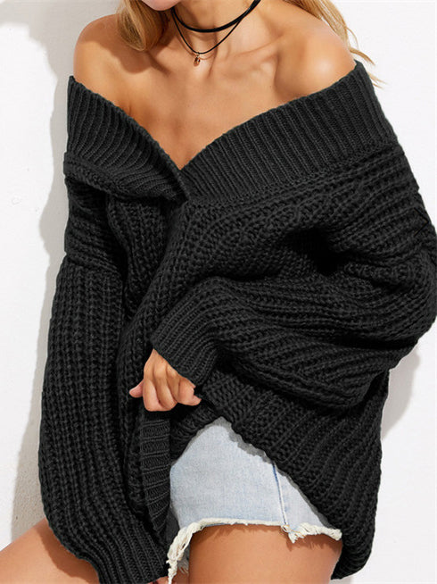 Kiss The Sun Off The Shoulder Oversize Sweater