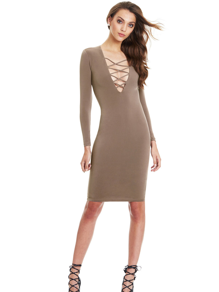 123b55ca10 Girl Like You Plunging Neck Bodycon Dress – INXCY
