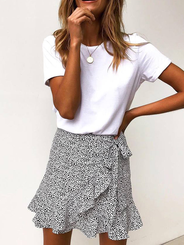 Dottie Love Ruffled Mini Skirt