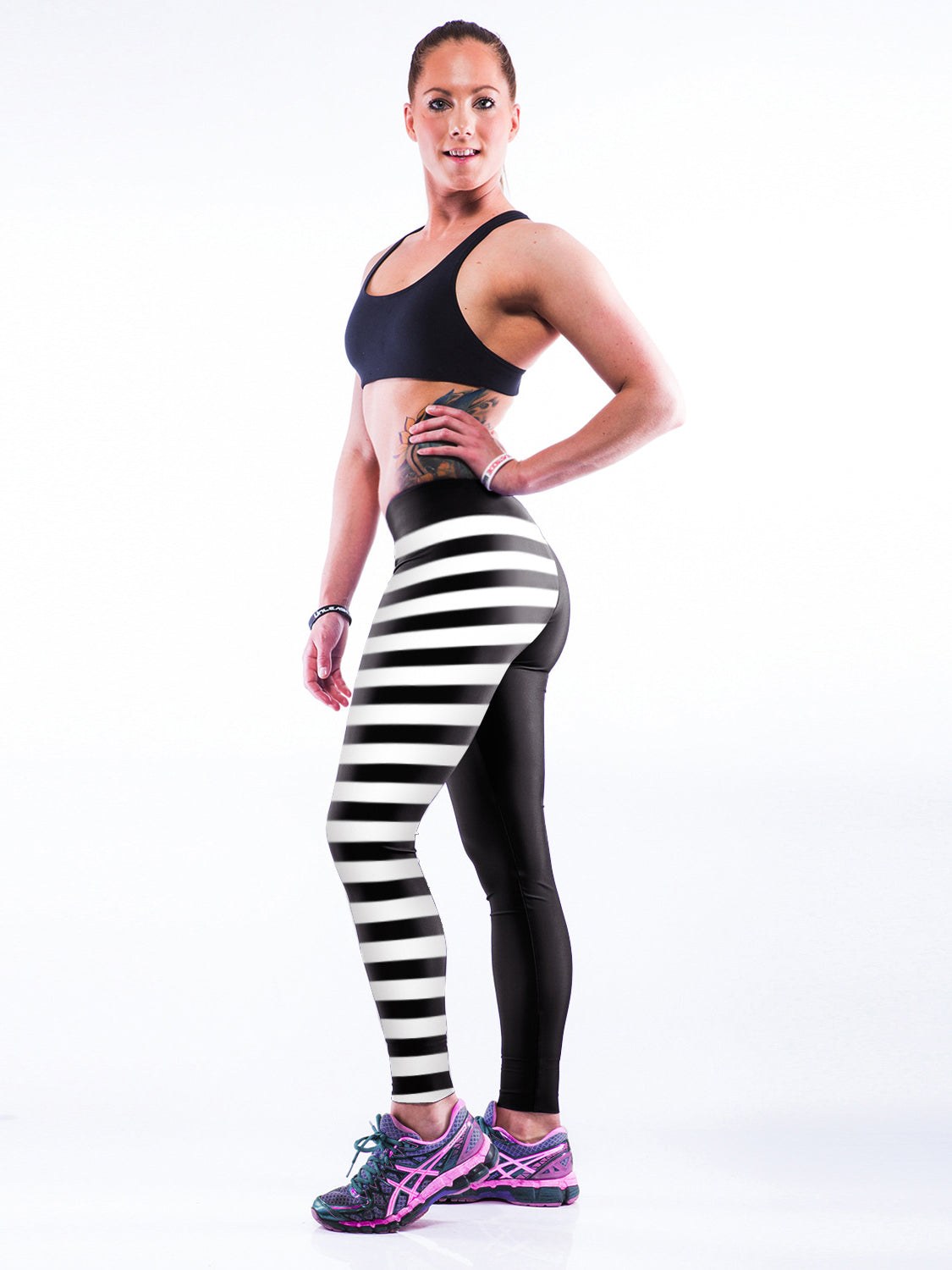 By Your Side Striped Sports Leggings