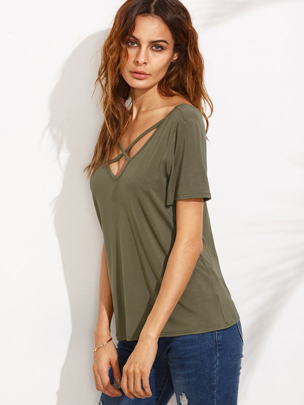 Seeking Heart V Neck Top