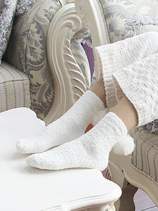 Cozy As Can Be Pompom Crew Socks