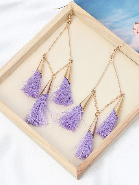 Linked Together Fringed Earrings