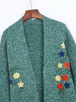 Small Moment Embroidered Long Sleeve Cardigan