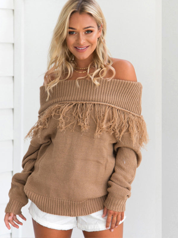 Around Town Off-The-Shoulder Pullover
