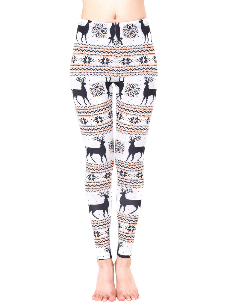 That Time Of Year Reindeer Print Holiday Leggings