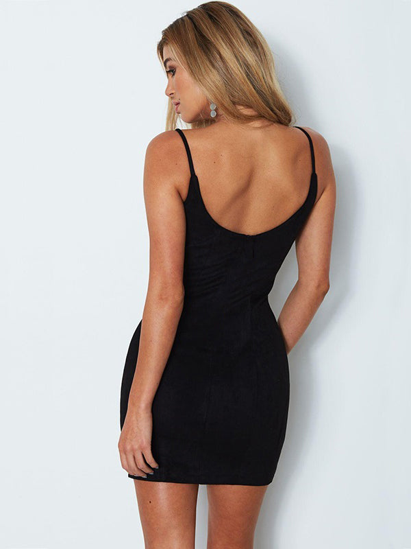 Better Than Ever Suede Bodycon Dress