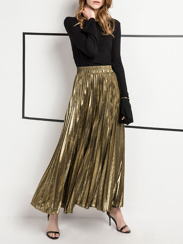 High On Life Pleated High Waist Maxi Skirt