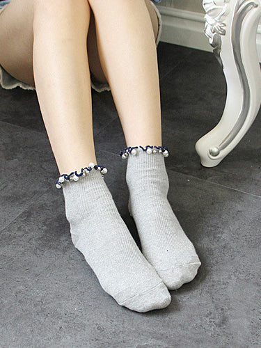 Colorblock Knitted Ankle Socks