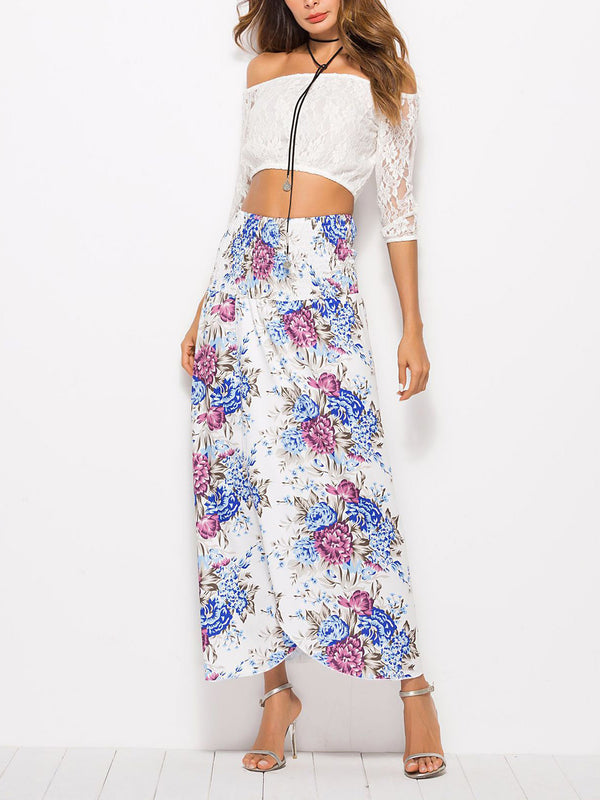 In Full Bloom High-Waist Midi Skirt