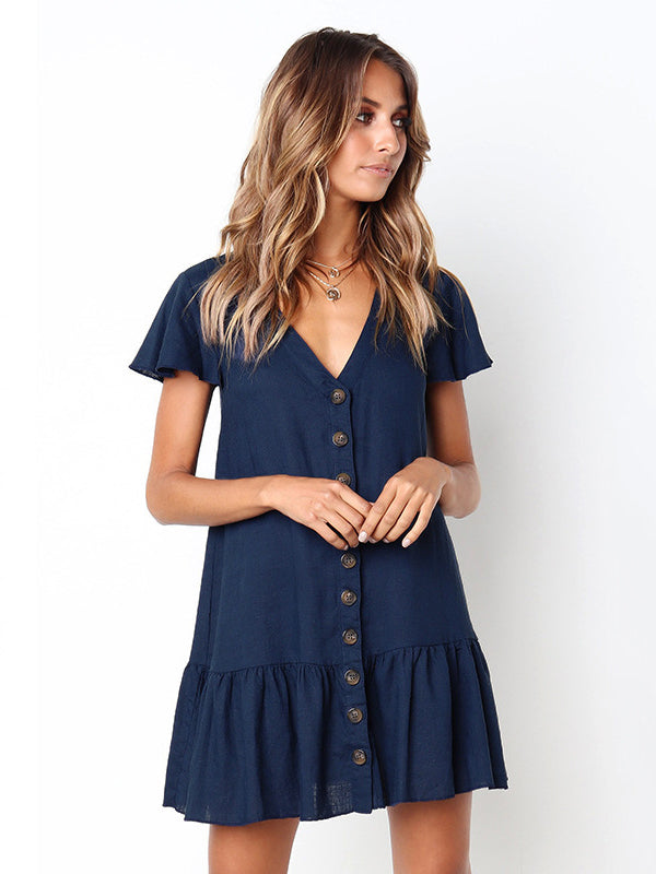 All Day Long Ruffled Mini Dress