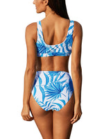 All Yours Leafy Print High Waist Bikini Set