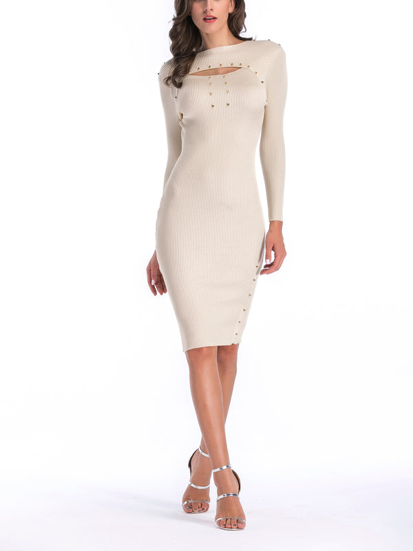 Banita Ribbed Knit Bodycon Dress