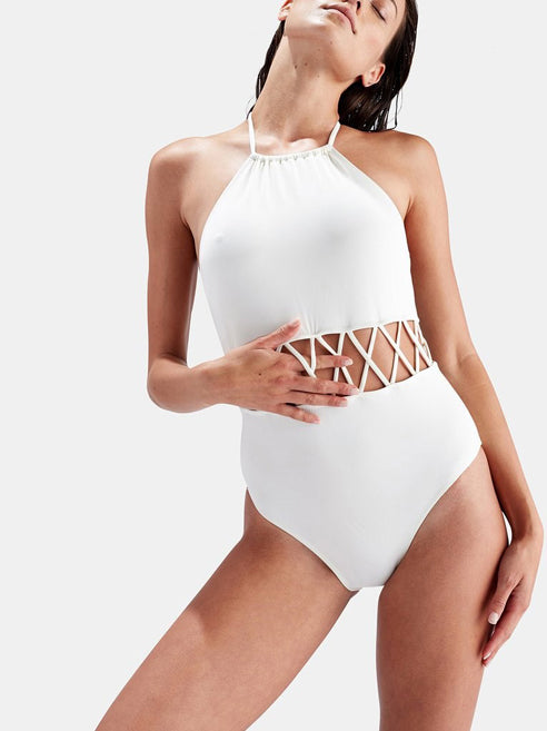 Beach Life Halter Neck Cut-Out Swimsuit