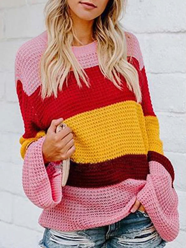 Bessie Striped Slouchy Pullover Sweater