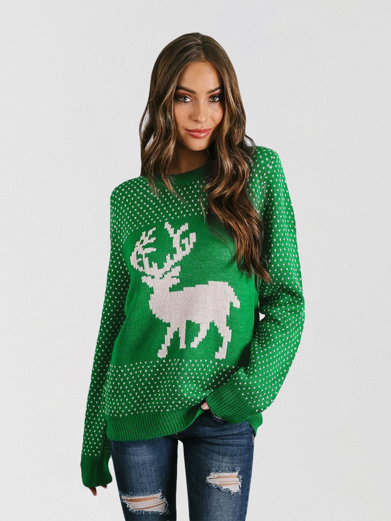 Best Day Ever Ribbed Knit Ugly Xmas Sweater