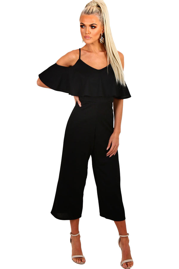 Warm It Up Frilled Wide Leg Jumpsuit