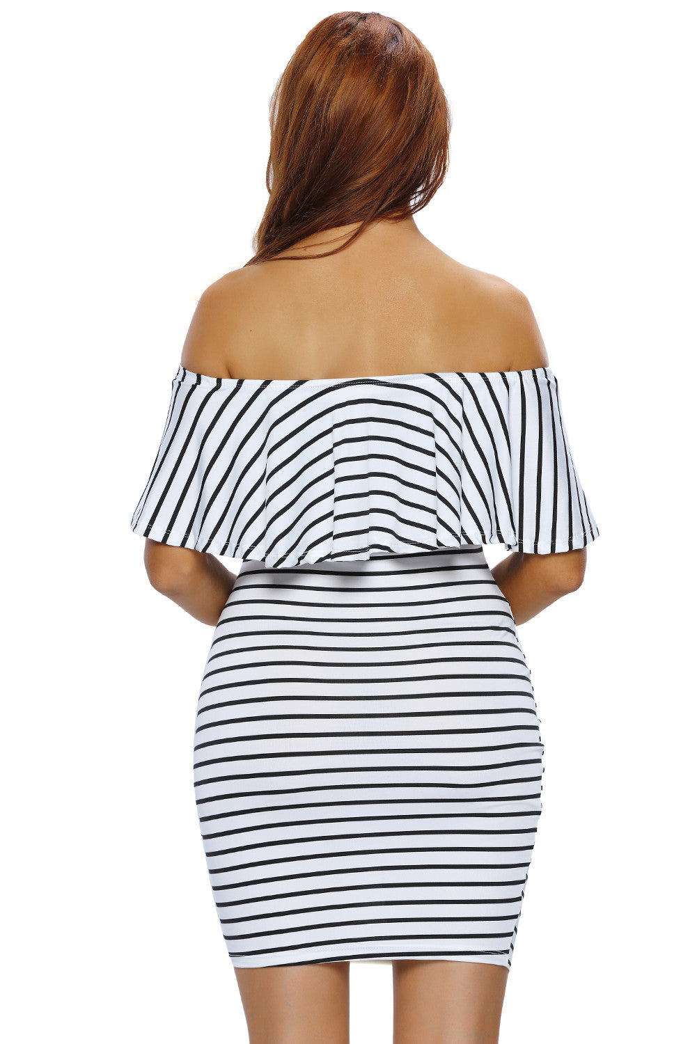 Better Than Ever Striped Off Shoulder Bodycon Dress