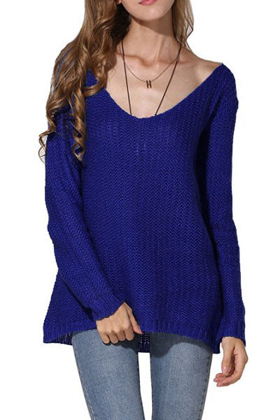 Good Vibes Plunging Neck Pullover