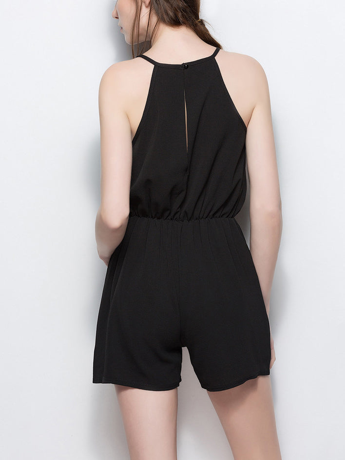 Cocktail Hour Lacy Sleeveless Romper