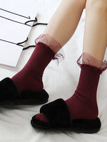 Cozy Days Ribbed Knit 3-Pack Ankle Socks