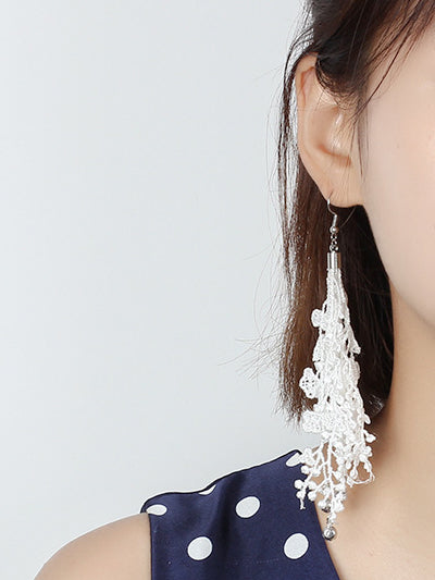Crochet Lace Drop Earrings