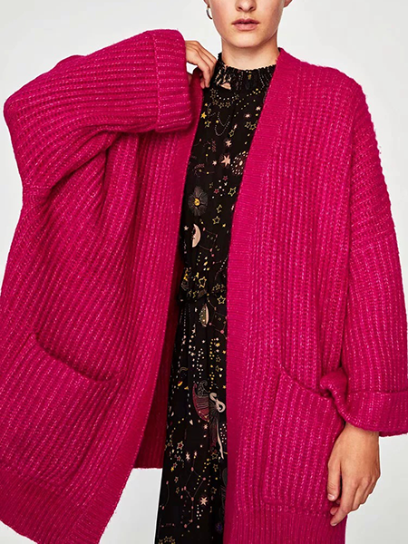 Day Dreamin' Chunky Knit Sweater Cardi
