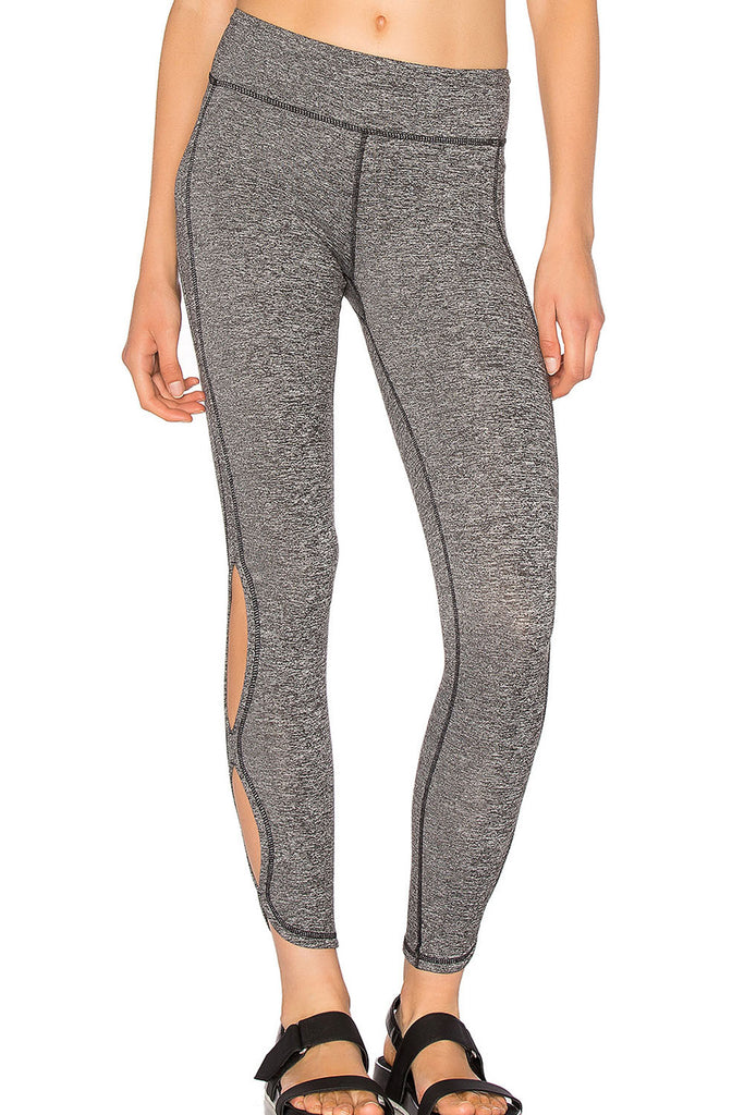 Dusty Grey Cutout Side Sports Leggings