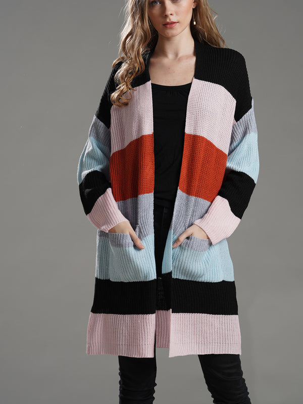 Easy Street Striped Sweater Cardi