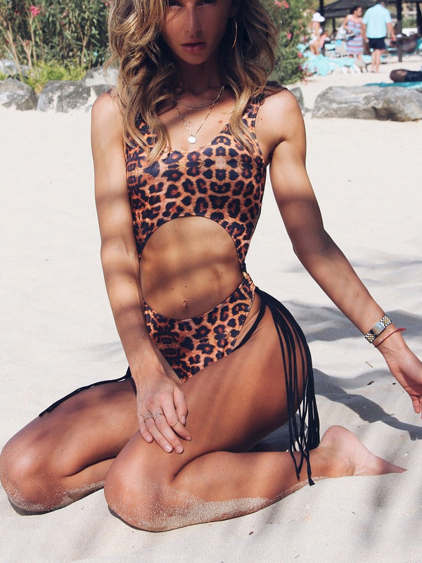 Evelia Leopard Print One-Piece Swimsuit