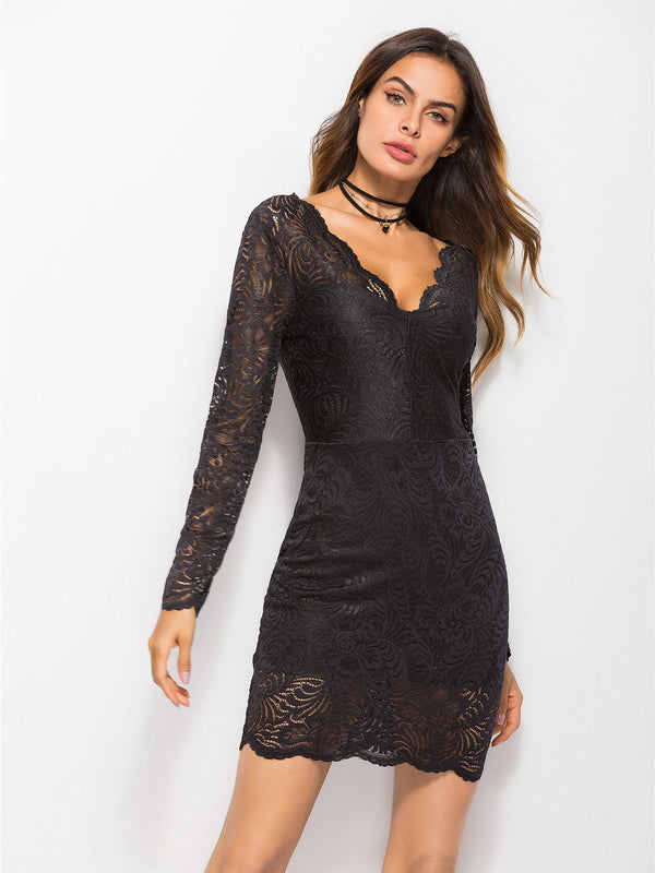 Feels Right Lace Bodycon Dress