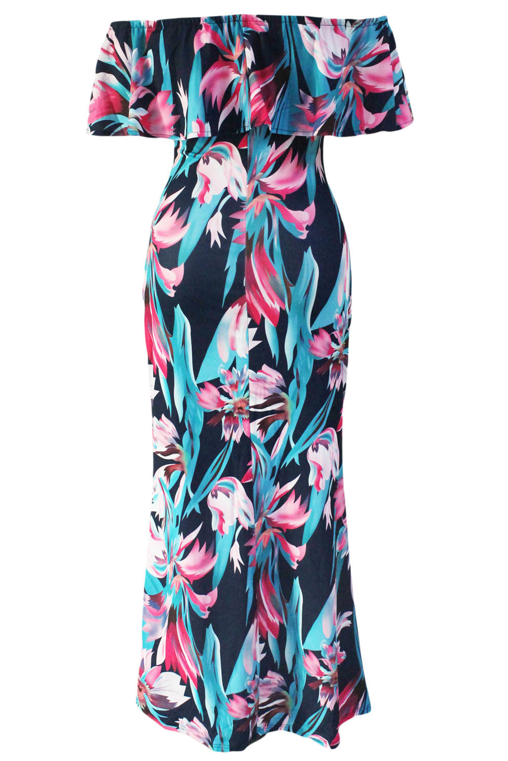 The Flourishing Days Printed Off-the-shoulder Maxi Dress