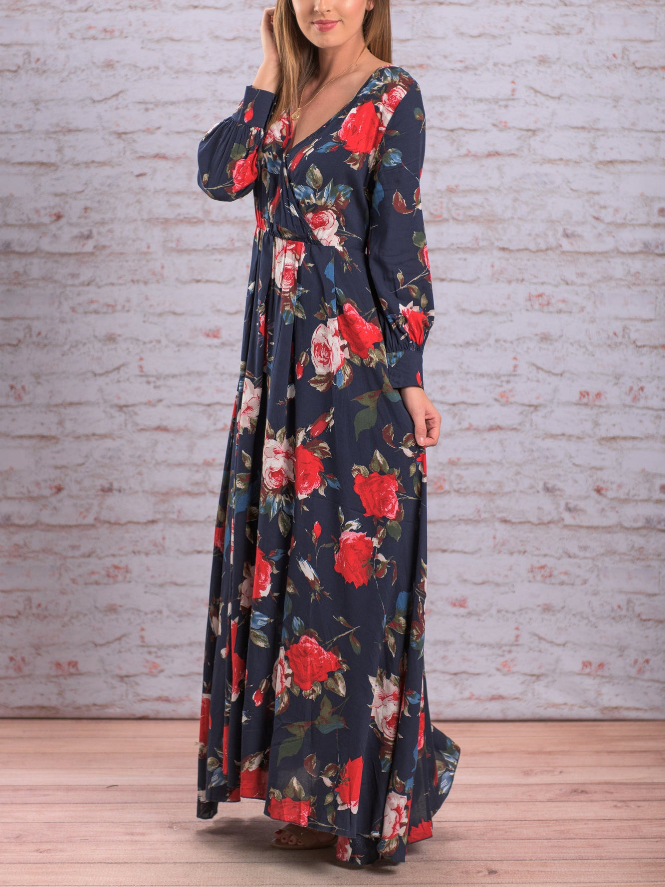 Simply Perfect Floral Print Maxi Dress