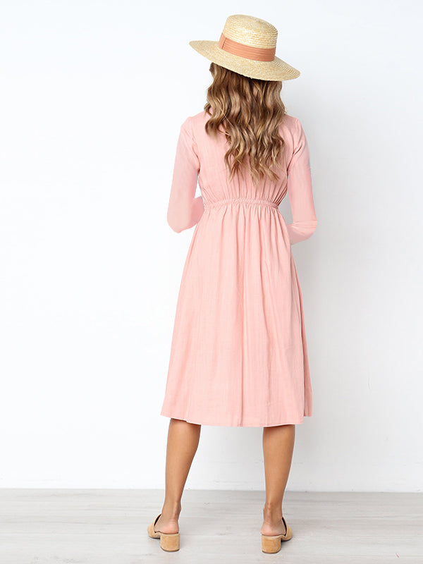French Girl Button Down Midi Dress
